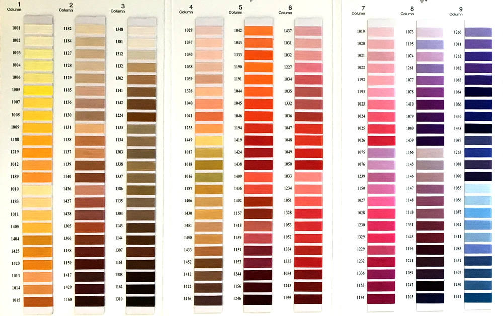 Cording Colour Guide 1