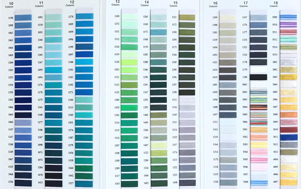 Cording Colour Guide 2